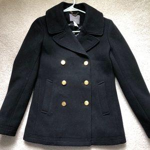 Jcrew Stadium Navy Pea Coat Condition like new